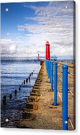 Pere Marquette Acrylic Print by Debra and Dave Vanderlaan
