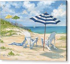Perfect Beach Blue  Acrylic Print by Paul Brent