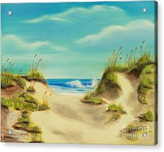 Perfect Beach Day Acrylic Print by Bev Conover