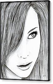 Perfect Beauty Acrylic Print by Saki Art