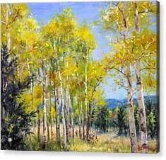 Perfect Day For A Hike Acrylic Print by Bill Inman