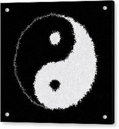 Perfect Imperfect Yin Yang Acrylic Print by Daniel Hagerman