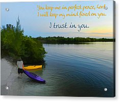 Perfect Peace Acrylic Print