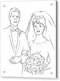 Perfect Wedding Acrylic Print by Olimpia - Hinamatsuri Barbu