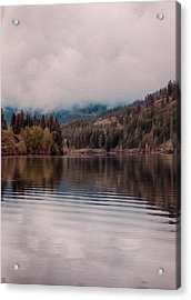 Perfectly Cloudy Lake Acrylic Print by Omaste Witkowski