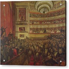 Performance Of Hernani By Victor Hugo Acrylic Print