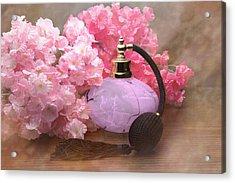 Perfume And Posies Still Life Acrylic Print by Tom Mc Nemar