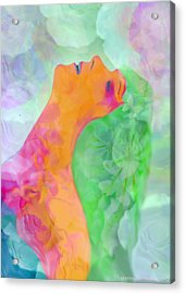Acrylic Print featuring the digital art Perfume Of Love by Martina  Rathgens
