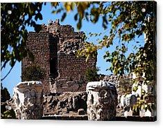 Pergamum - Premier Ancient Site In Turkey Acrylic Print by Jacqueline M Lewis
