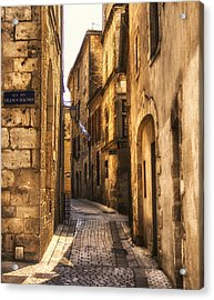 Perigueux Street Acrylic Print by Georgia Fowler