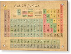 Periodic Table Of Elements Acrylic Print by Michael Tompsett