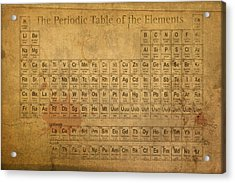 Periodic Table Of The Elements Acrylic Print by Design Turnpike