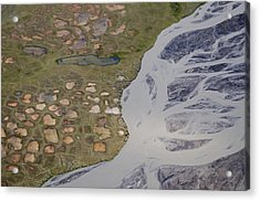 Permafrost Polygons And Braided River Acrylic Print