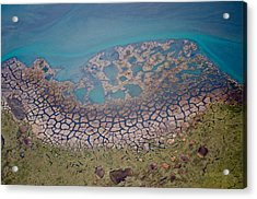 Permafrost Polygons On The Coast Acrylic Print