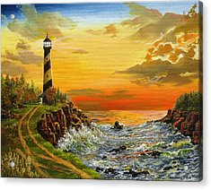 Acrylic Print featuring the painting Perry's Point by Kevin F Heuman