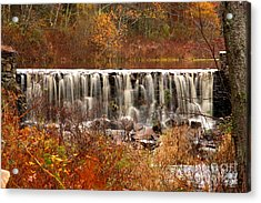 Perryville Dam Rehoboth Ma Acrylic Print by Butch Lombardi