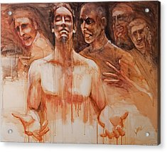 Acrylic Print featuring the painting Persecution by Jani Freimann