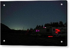 Perseid Meteor-julian Night Lights Acrylic Print