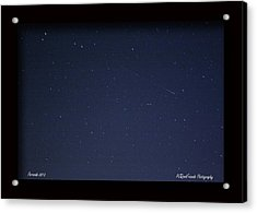 Perseid Meteor Acrylic Print by PJQandFriends Photography