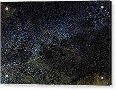 Perseid Meteor Track Over Hawaii Acrylic Print