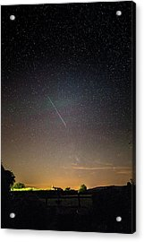 Perseid Meteor Trail 2015 Acrylic Print by Chris Madeley