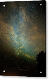 Perseid Meteor Trail In The Night Sky Acrylic Print