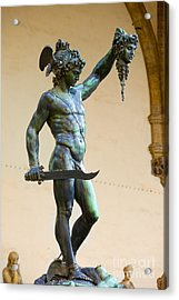 Perseus And Medusa Acrylic Print by Brian Jannsen