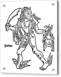 Perseus Constellation, 1482 Acrylic Print
