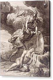 Perseus Cuts Off Medusa's Head Acrylic Print by Bernard Picart