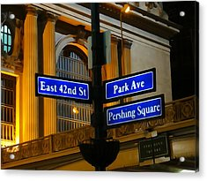 Pershing Square At Grand Central Terminal Acrylic Print by Dan Sproul