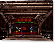 Pershing Square Cafe Acrylic Print by Susan Candelario