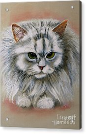 Persian Beauty Acrylic Print by Val Stokes