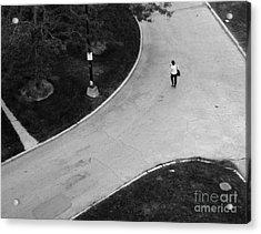 Person On Walkway Acrylic Print