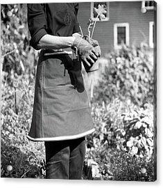 Person Wearing A Gardening Apron Acrylic Print
