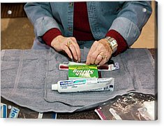 Personal Hygiene Kit Acrylic Print by Jim West
