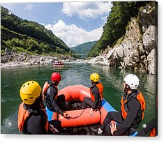 Personal Point Of View Of A White Water River Rafting Excursion Acrylic Print by Tdub303