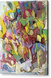Personal Progress 3 Acrylic Print by David Baruch Wolk