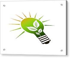 Perspective Ico Light Bulb Acrylic Print
