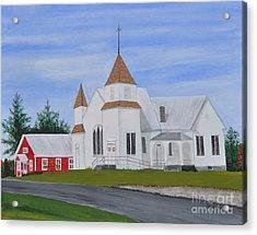 Peru Congregational Church Acrylic Print by Sally Rice