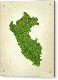 Peru Grass Map Acrylic Print