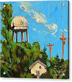 Peru Water Tower On 9th Acrylic Print by Charlie Spear