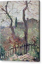 Perugia  Umbria Acrylic Print by Konstantin Andreevic Somov