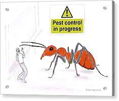 Pest Control Acrylic Print