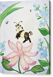 Acrylic Print featuring the painting Petal Jumper by Cathy Cleveland