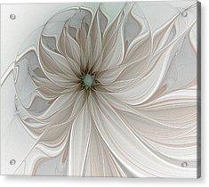 Petal Soft White Acrylic Print