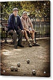 Acrylic Print featuring the photograph Petanque Match / Brive La Gaillarde by Barry O Carroll
