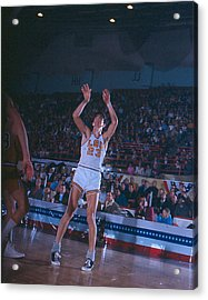 Pete Maravich Follow Through Acrylic Print by Retro Images Archive