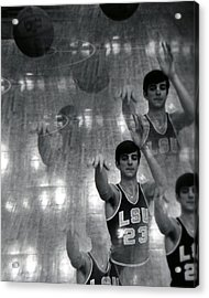 Pete Maravich Kaleidoscope Acrylic Print
