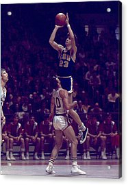 Pete Maravich Leaning Jumper Acrylic Print by Retro Images Archive