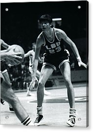 Pete Maravich Playing Defense Acrylic Print by Retro Images Archive